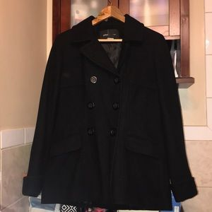 Black VS Double-Breasted Pea Coat